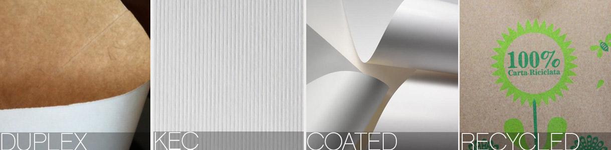 Shopper di carta con manico cordino: carte Duplex, Kec, Coated, Riciclata