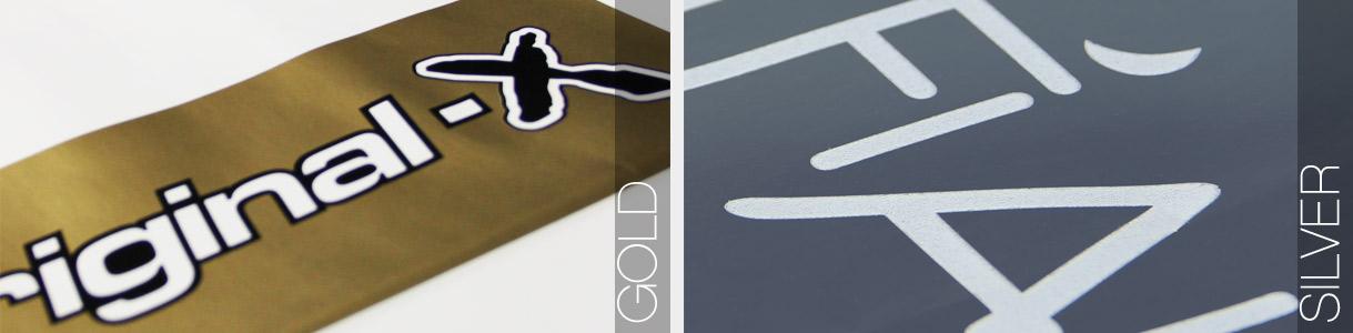 Shopper di carta con manico cordino: stampa Oro e Argento